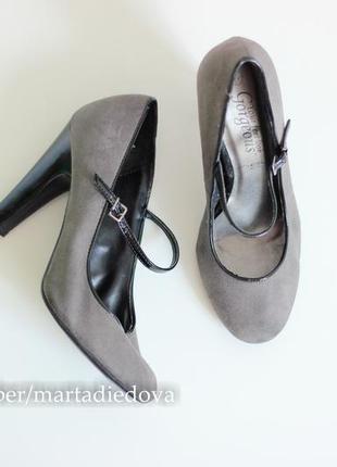 Туфли классические с ремешком, бренд new look