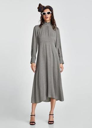 Платье миди в клетку от zara