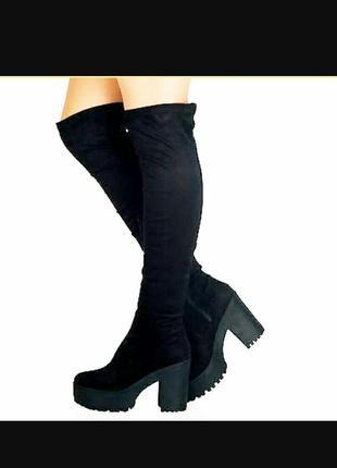 No doubt замшеві ботфорти замшевые высокие ботинки 40 41