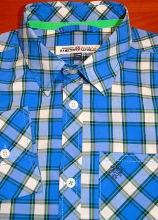 Hampton republic отличная рубашка на мальчика - 152 - 164