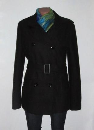 Полушерстяное пальто от me&me р. 46-м качество
