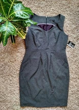 Офисное классическое платье 50-52