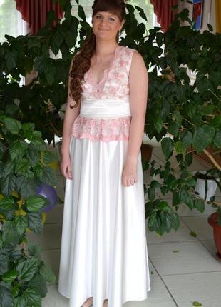Шикарное платье! свадьба, выпуск! наш 48 размер