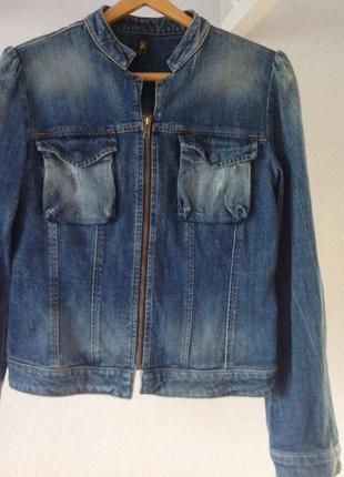 Пиджак/куртка/ джинсовая на молнии