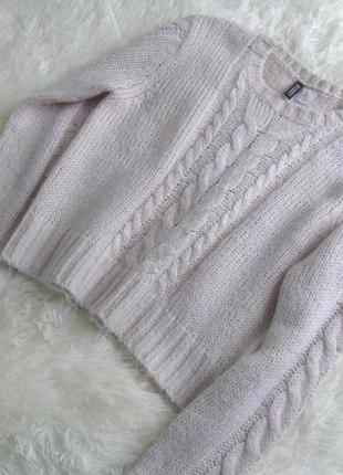 Укороченный свитер с косами h&m
