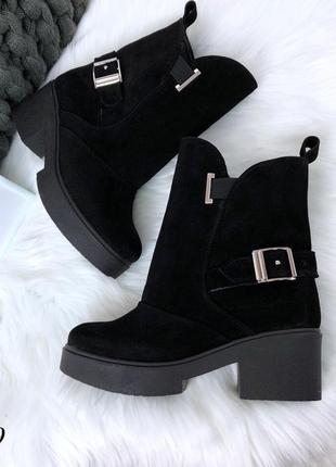 Зимние ботинки из натуральной замши. размеры с 36 по 40