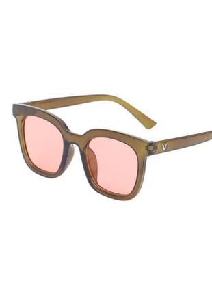 Квадратные солнцезащитные очки унисекс цветные в винтажном ретро стиле