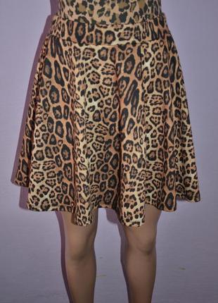 Леопардовая юбка солнце клеш atmosphere!