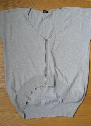 F&f серый реглан с коротким рукавом на молнии