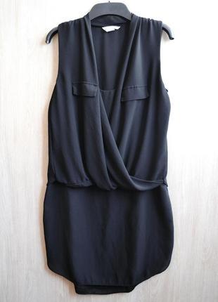 Необычное многослойное шифоновое  платье h&m