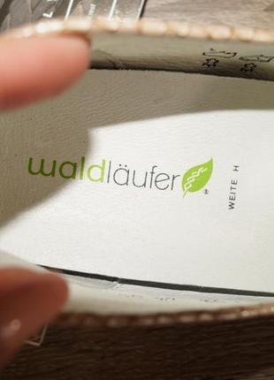Waldlaufer! кожа! германия! кожа! красивые и комфортные туфли, мокасины3