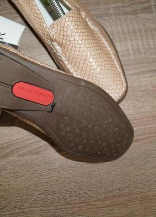 Waldlaufer! кожа! германия! кожа! красивые и комфортные туфли, мокасины4
