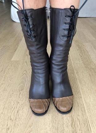 Зимові черевички,всередині натуральне хутро,повнісю шкірянні