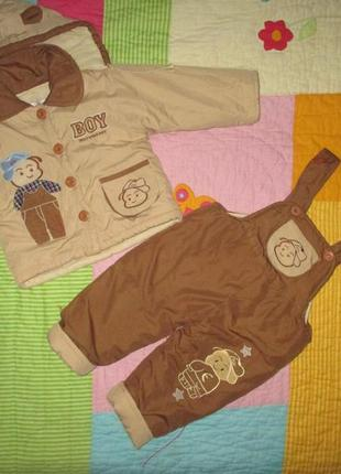 Демисезонный костюм комбинезон : куртка, штаны, возраст 1,5-2 года