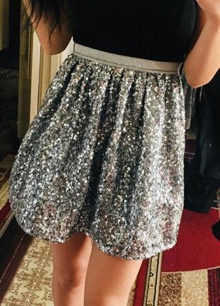 Юбка. пайетки. юбка с пайетками
