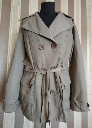 Классная коттоновая куртка, размер 44-46