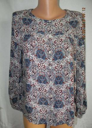 Натуральная блуза с принтом