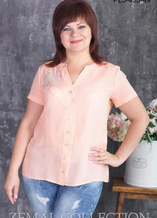 Фирменная блуза р.60 тм zemal