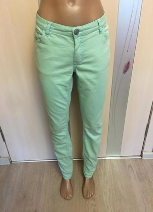 Мятные штаны большой размер при покупки от 3х вещей доставка укр.почтой бесплатно