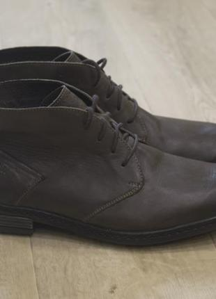 Мужские кожаные туфли дезерты josef seibel кожа оригинал