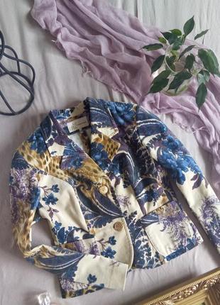 Шикарный велюровый пиджак gina bacconi