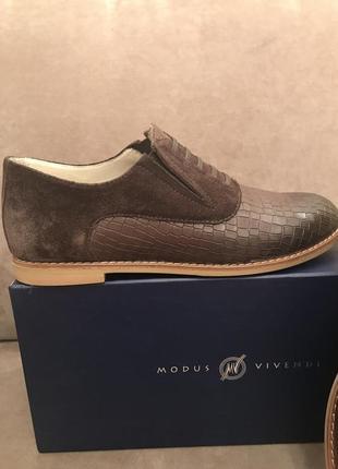 Кожаные туфли modus vivendi