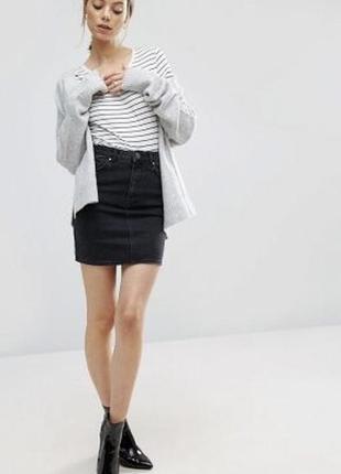 Крутая джинсовая юбка denim &co
