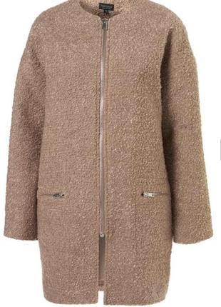 Элегантное модное бежевое пальто в стиле шанель от topshop