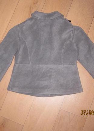 Классный теплый байковый пиджак (пальто)жакет next для девочки 7-9 лет3