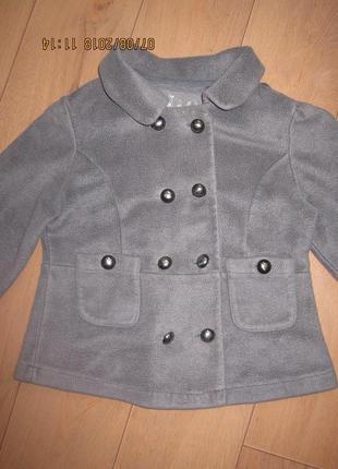 Классный теплый байковый пиджак (пальто)жакет next для девочки 7-9 лет2