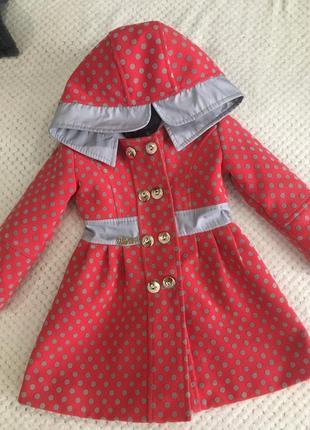 Драповое пальто для девочки