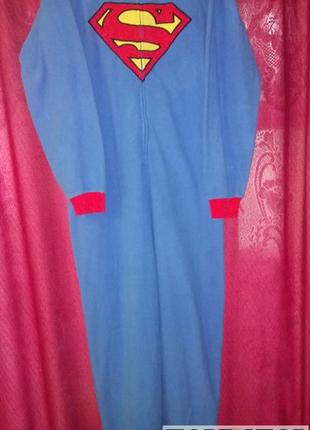 Кенгуруми,слип пижама,футужама ,спальный комбинезон супермен l