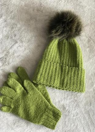Шикарний набір шапка+ рукавички
