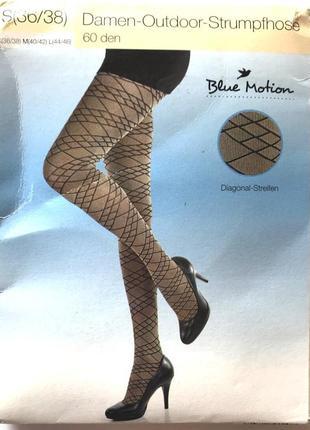 Фантазийные колготки 60 den, blue motion, германия ,  36-38