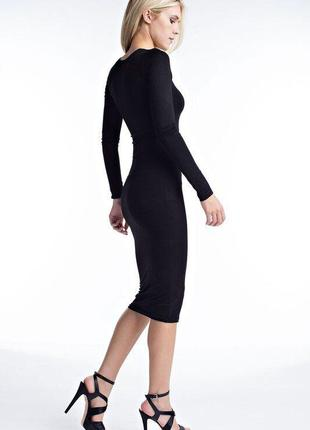 Стильное платье в рубчик h&m