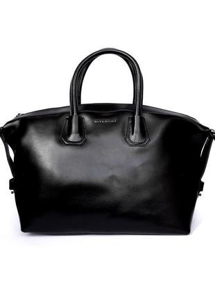 """Женская кожаная сумка """"antigona"""" черная"""
