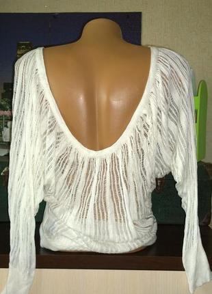 Пуловер кофточка топ блуза летучая мышь фактурной вязки jane norman2 фото