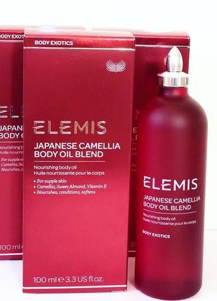 Elemis масло для тела japanese camellia body oil blend.