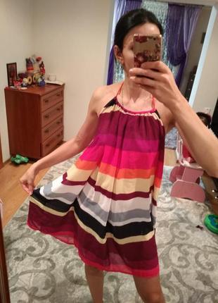 Яркая пляжная туника платье сукня плаття накидка на купальник