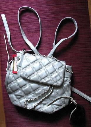 Маленький серебряный рюкзачок от тм accessories