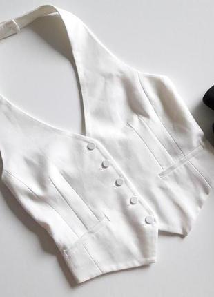Белый жилет, топ