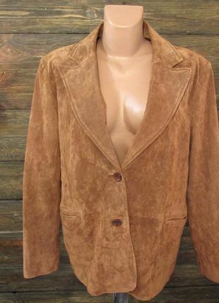 Куртка кожаная замшевая c&a, 44 (l, 50), как новая!