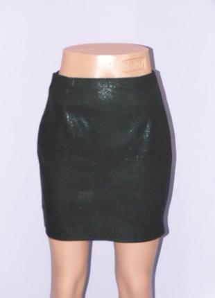 Классическая черная юбка с напылением