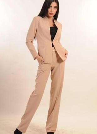 Классический женский костюм,двойка - брюки и пиджак,новый, размер 42-44