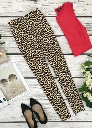 Классические брюки с принтом сафари  pn1837040  f&f
