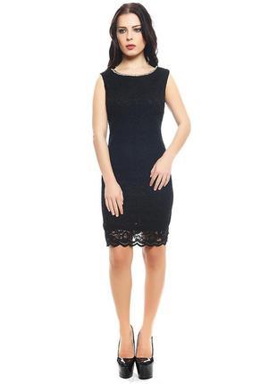 Платье кружевное мереживна сукня чорна dorothy perkins базове класична сукня