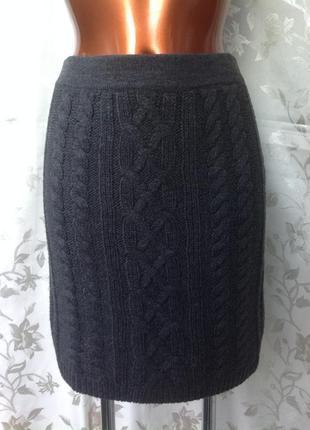 Новая серая фирменная теплая юбка от yessica