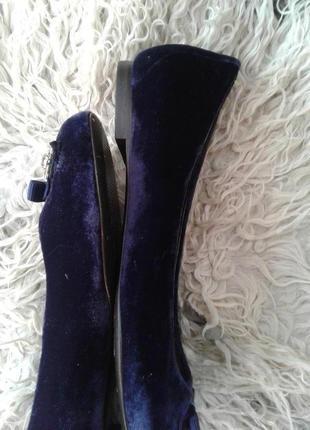 Комнатные туфли, кожа, велюр, фиолетовые 39р , boden.4 фото