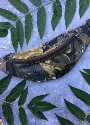 Камуфляжная поясная сумка, банан, бананка, камуфляж унисекс, ботанический принт
