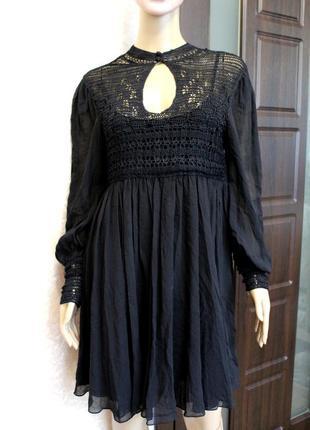 100 шелк! эксклюзивное нарядное платье